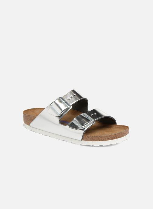 Clogs & Pantoletten Birkenstock Arizona Cuir Soft Footbed W silber detaillierte ansicht/modell