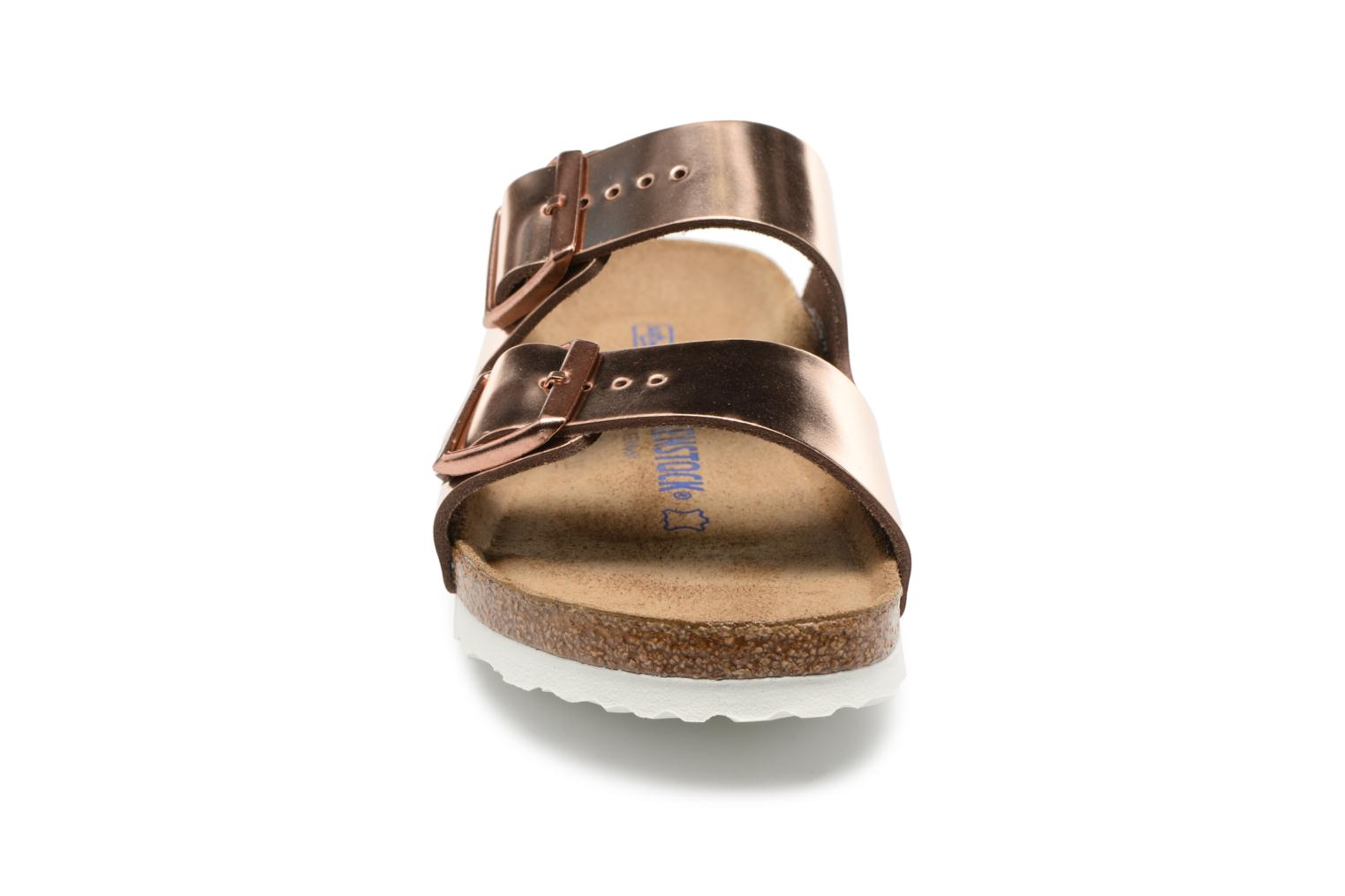 Mules & clogs Birkenstock Arizona Cuir Soft Footbed W Bronze and Gold model view