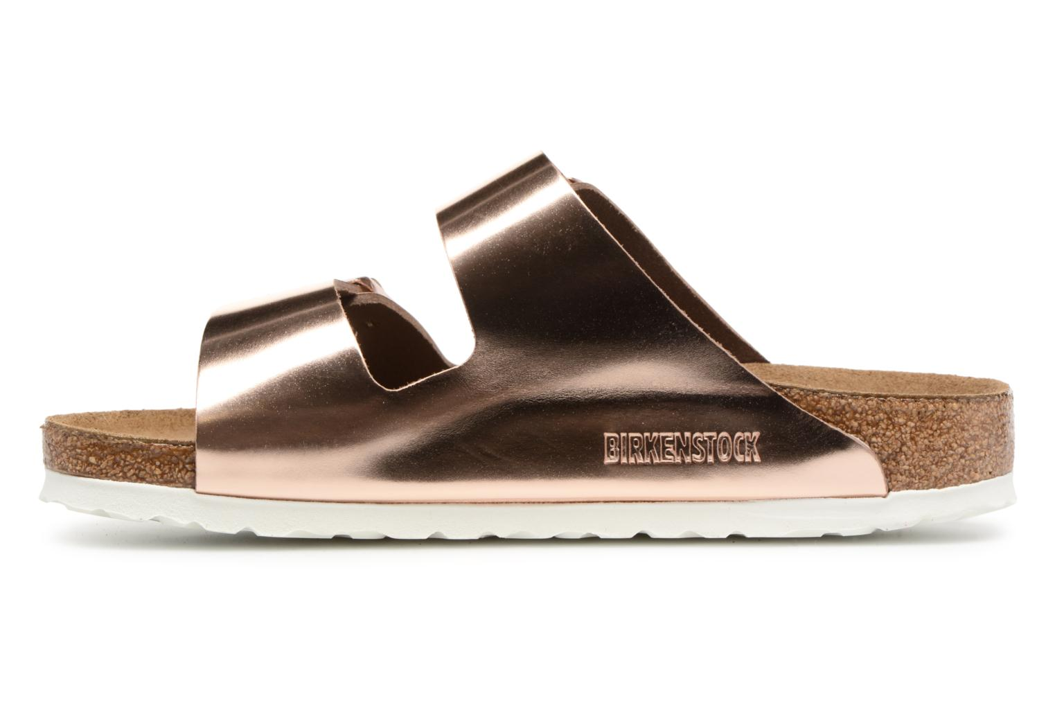 Mules & clogs Birkenstock Arizona Cuir Soft Footbed W Bronze and Gold front view