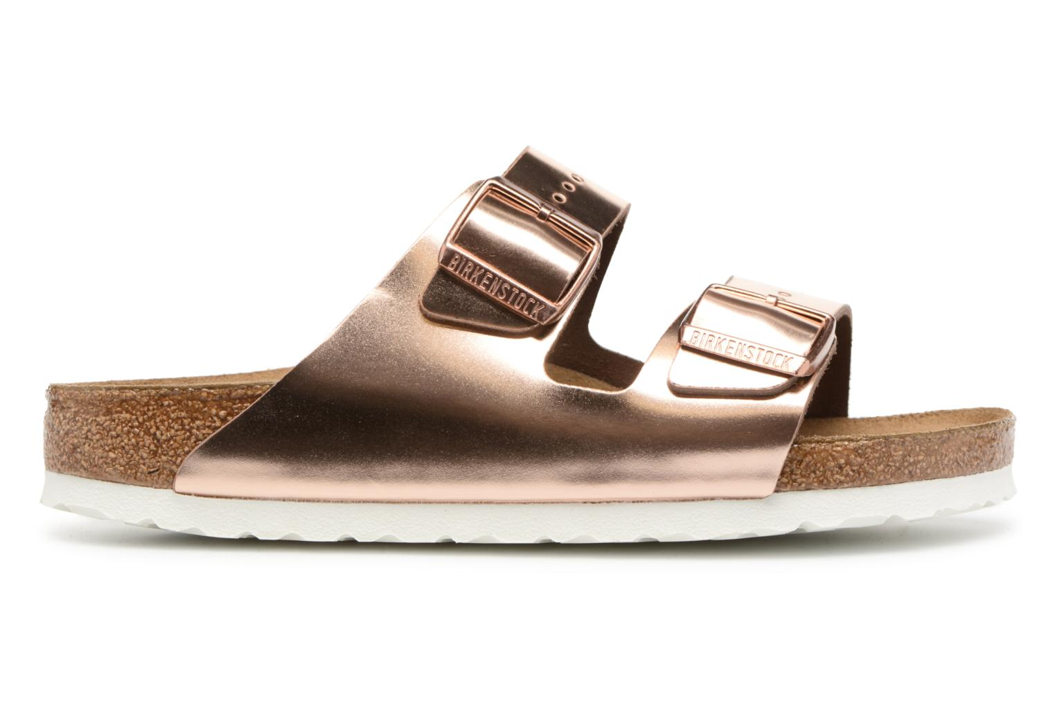 Mules & clogs Birkenstock Arizona Cuir Soft Footbed W Bronze and Gold back view