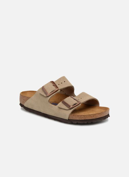 Wedges Birkenstock Arizona Cuir Suede Soft Footbed W Beige detail