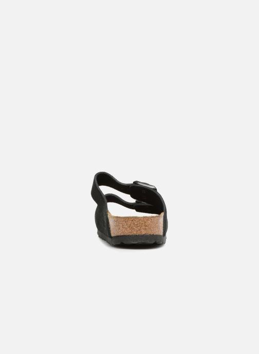 Clogs & Pantoletten Birkenstock Arizona Cuir Suede Soft Footbed W schwarz ansicht von rechts