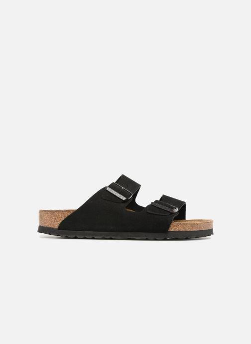 Clogs & Pantoletten Birkenstock Arizona Cuir Suede Soft Footbed W schwarz ansicht von hinten