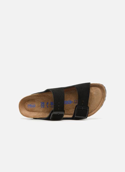 Zuecos Birkenstock Arizona Cuir Suede Soft Footbed W Negro vista lateral izquierda