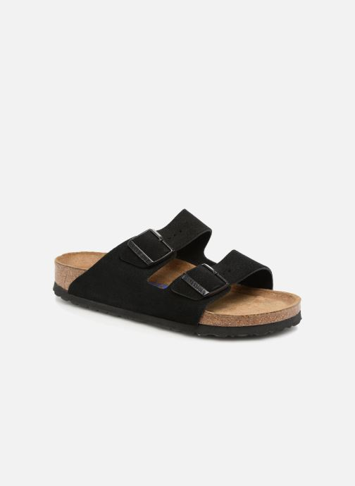 Wedges Birkenstock Arizona Cuir Suede Soft Footbed W Zwart detail