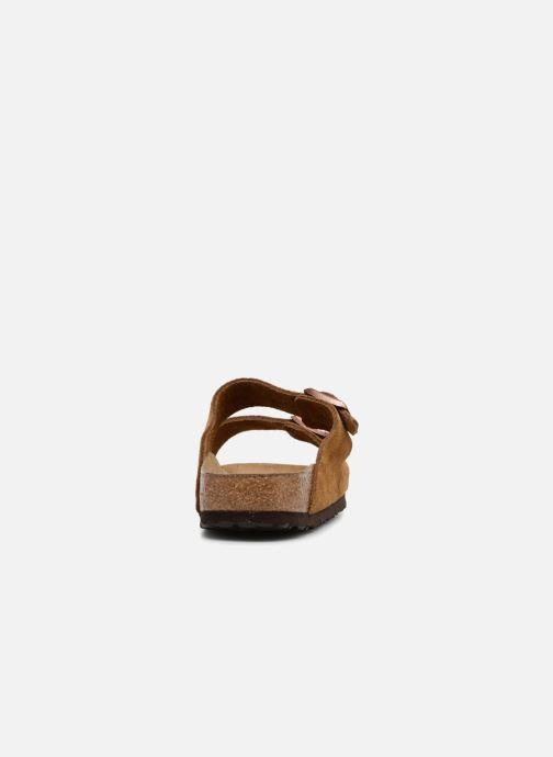 Clogs & Pantoletten Birkenstock Arizona Cuir Suede Soft Footbed W braun ansicht von rechts
