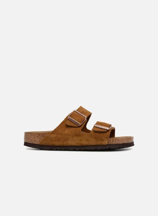 Clogs & Pantoletten Birkenstock Arizona Cuir Suede Soft Footbed W braun ansicht von hinten