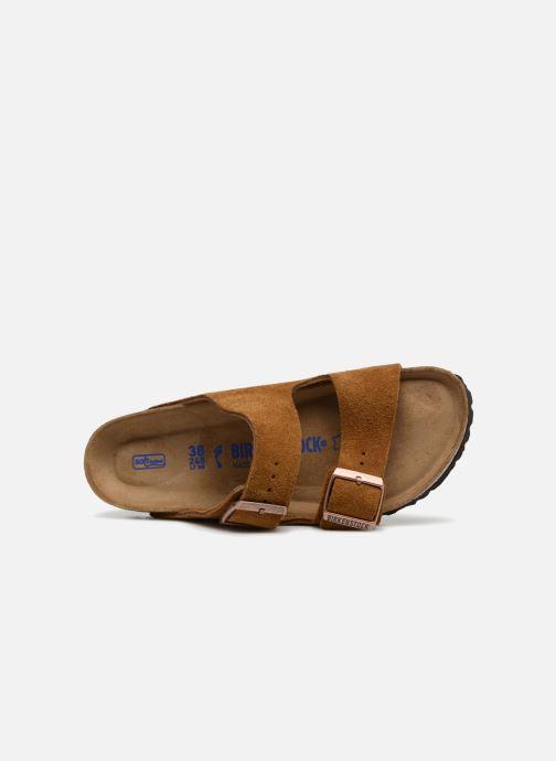 Clogs & Pantoletten Birkenstock Arizona Cuir Suede Soft Footbed W braun ansicht von links