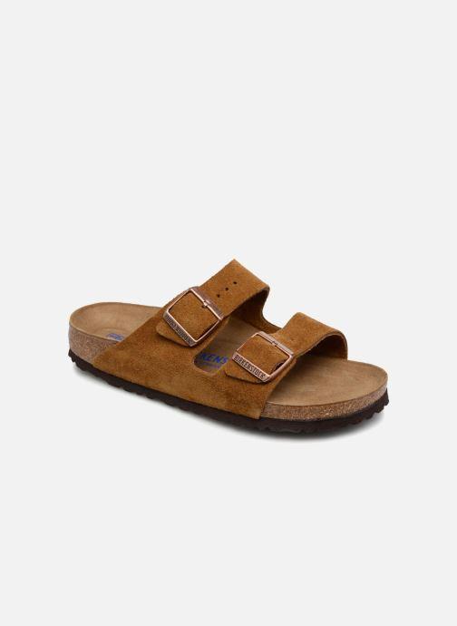 Clogs & Pantoletten Birkenstock Arizona Cuir Suede Soft Footbed W braun detaillierte ansicht/modell