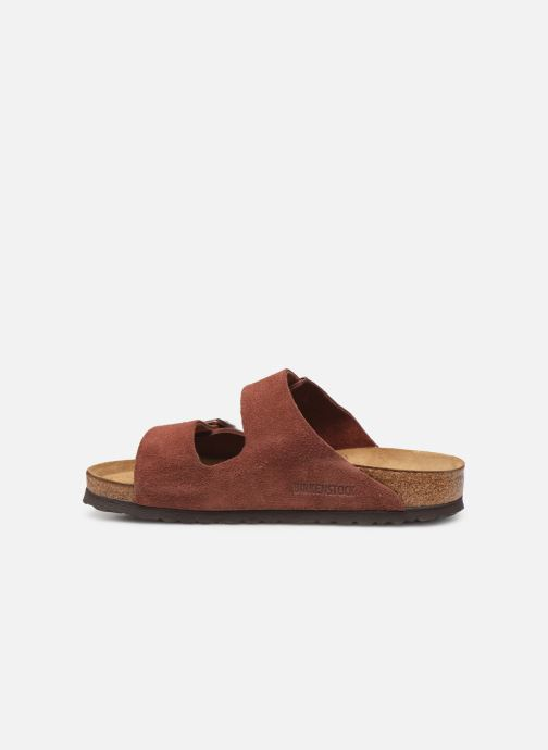 Wedges Birkenstock Arizona Cuir Suede Soft Footbed W Bordeaux voorkant