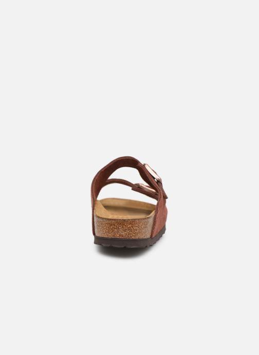 Wedges Birkenstock Arizona Cuir Suede Soft Footbed W Bordeaux rechts