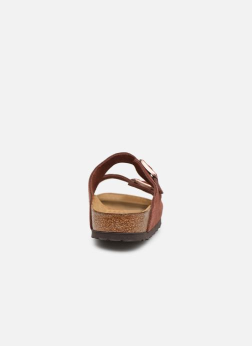 Wedges Birkenstock Arizona Cuir Suede Soft Footbed W Bordeaux rechts