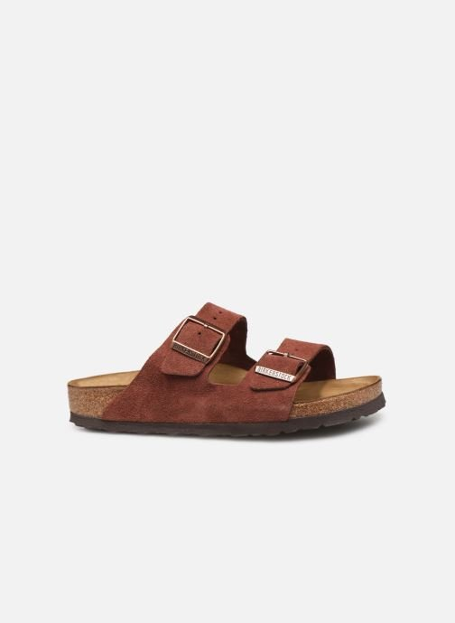 Wedges Birkenstock Arizona Cuir Suede Soft Footbed W Bordeaux achterkant