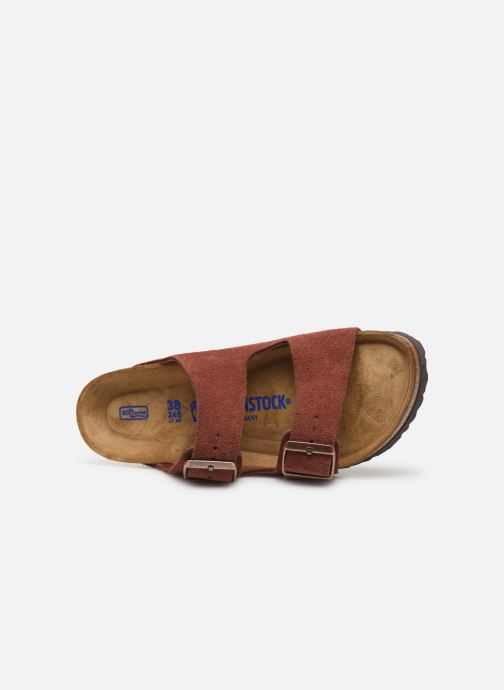 Wedges Birkenstock Arizona Cuir Suede Soft Footbed W Bordeaux links