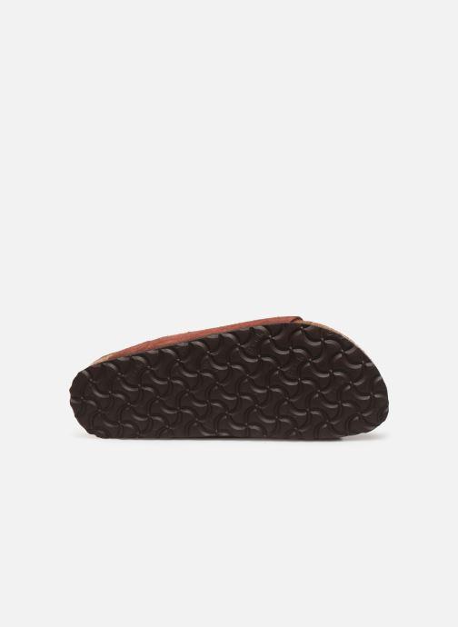 Wedges Birkenstock Arizona Cuir Suede Soft Footbed W Bordeaux boven