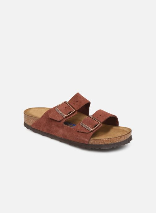 Wedges Birkenstock Arizona Cuir Suede Soft Footbed W Bordeaux detail