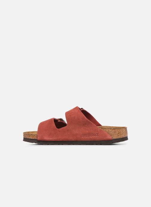 Wedges Birkenstock Arizona Cuir Suede Soft Footbed W Roze voorkant