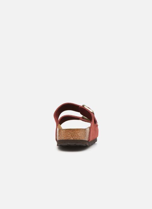 Wedges Birkenstock Arizona Cuir Suede Soft Footbed W Roze rechts