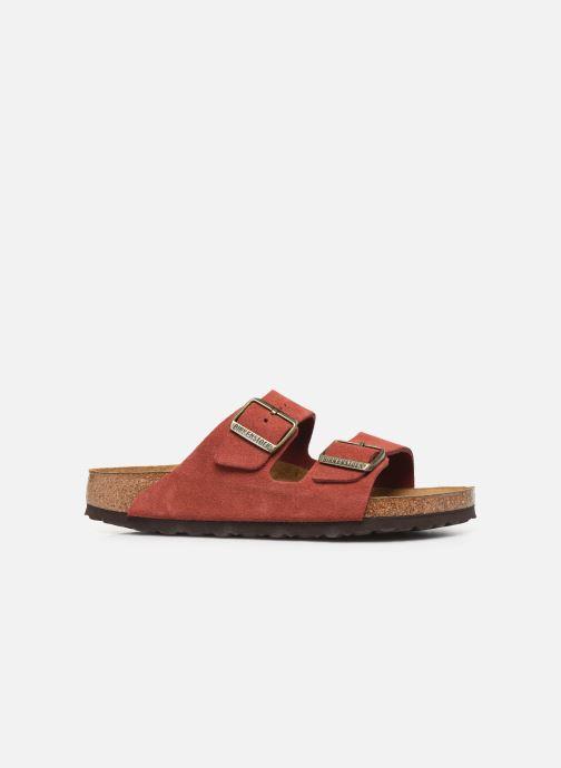 Wedges Birkenstock Arizona Cuir Suede Soft Footbed W Roze achterkant
