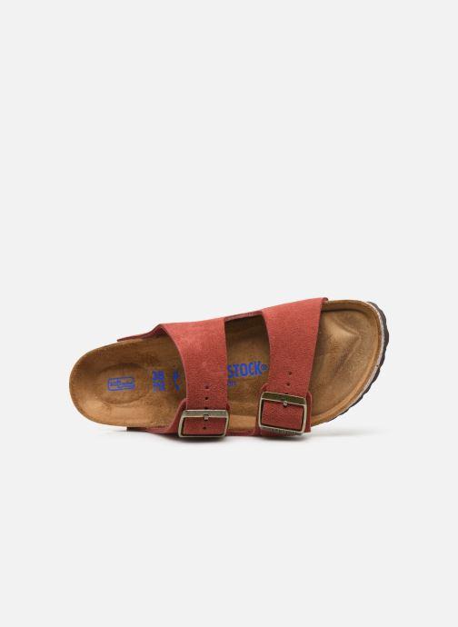 Wedges Birkenstock Arizona Cuir Suede Soft Footbed W Roze links