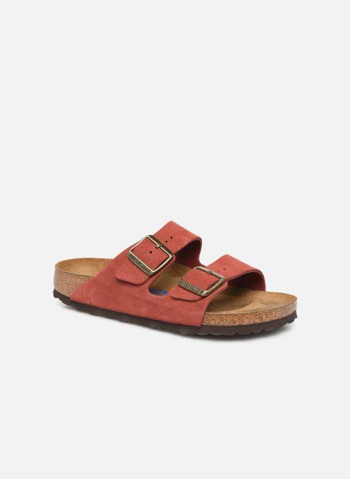 Wedges Birkenstock Arizona Cuir Suede Soft Footbed W Roze detail