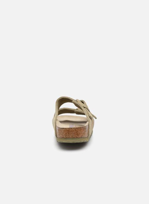 Clogs & Pantoletten Birkenstock Arizona Cuir Suede Soft Footbed W grün ansicht von rechts