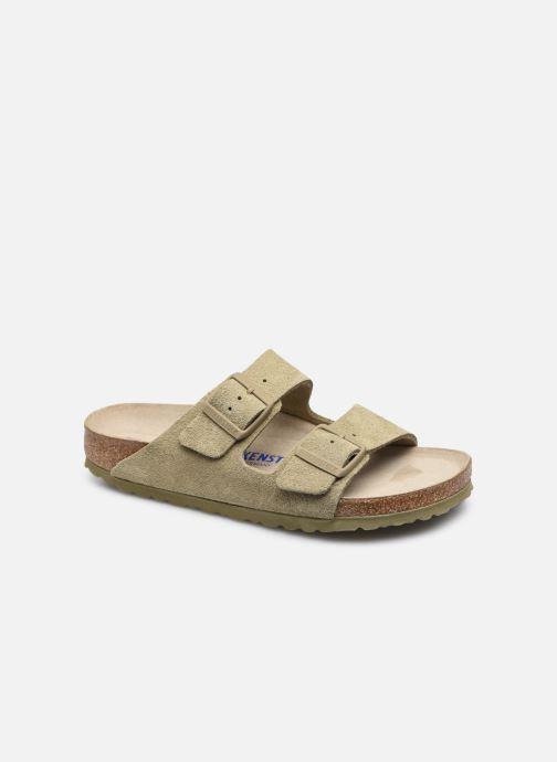 Clogs & Pantoletten Birkenstock Arizona Cuir Suede Soft Footbed W grün detaillierte ansicht/modell