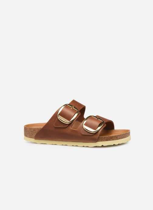 Zuecos Birkenstock Arizona Big Buckle Cuir W Marrón vistra trasera