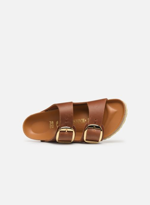 Zuecos Birkenstock Arizona Big Buckle Cuir W Marrón vista lateral izquierda
