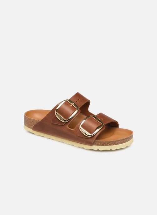 Zuecos Birkenstock Arizona Big Buckle Cuir W Marrón vista de detalle / par