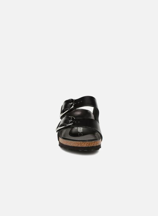 Mules et sabots Birkenstock Arizona Big Buckle Cuir Women Noir vue portées chaussures