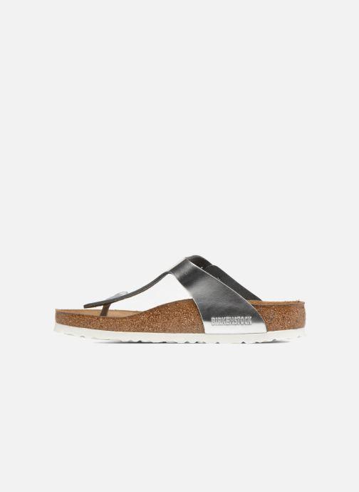Sandalen Birkenstock Gizeh Cuir Soft Footbed W silber ansicht von vorne