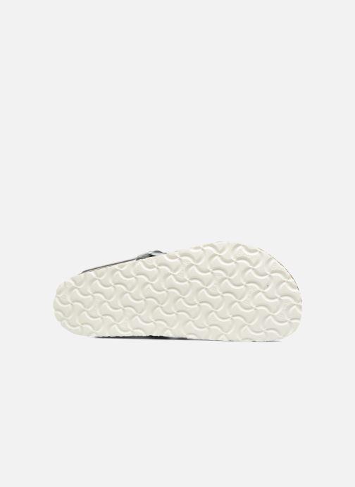 Sandalias Birkenstock Gizeh Cuir Soft Footbed W Plateado vista de arriba