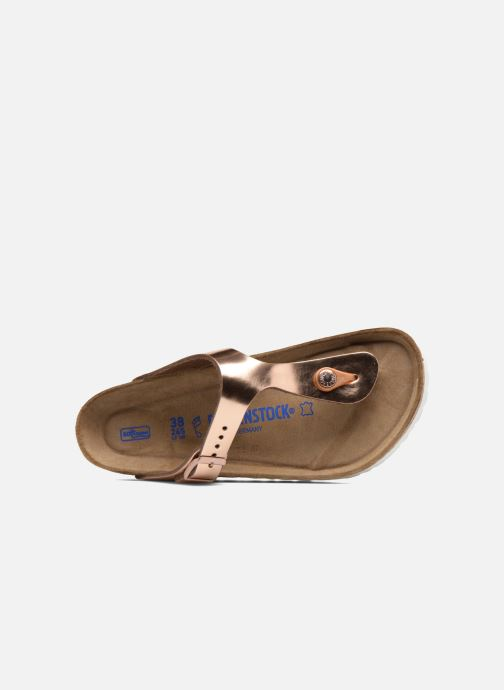 Sandalias Birkenstock Gizeh Cuir Soft Footbed W Oro y bronce vista lateral izquierda