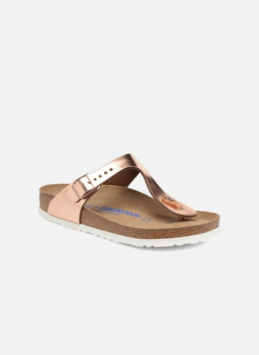 c927b9eb7b6a Sandaler Birkenstock Gizeh Cuir Soft Footbed W Guld og bronze detaljeret  billede af skoene