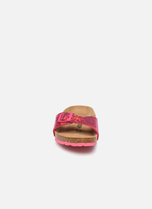 Zoccoli Birkenstock Madrid Microfibre W Rosa modello indossato