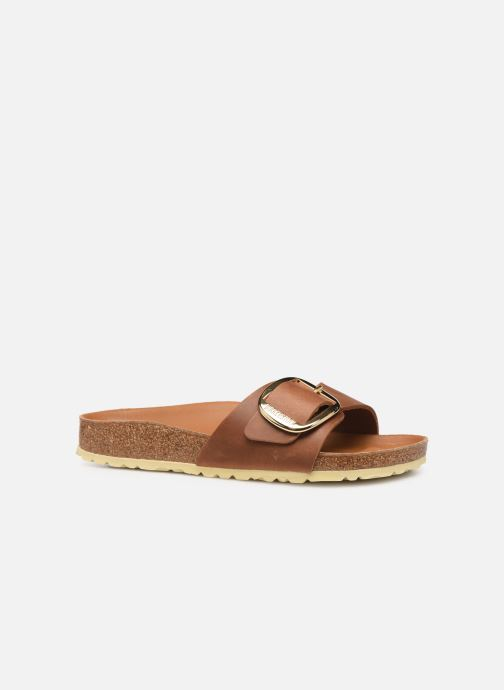 Wedges Birkenstock Madrid Big Buckle Cuir Women Bruin achterkant