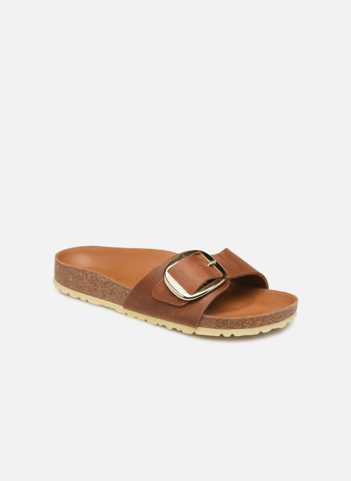 Mules et sabots Birkenstock Madrid Big Buckle Cuir Women Marron vue détail/paire