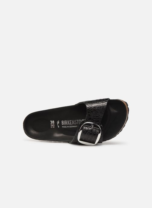 Zuecos Birkenstock Madrid Big Buckle Negro vista lateral izquierda