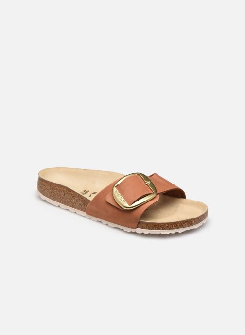 Zuecos Birkenstock Madrid Big Buckle Cuir Women Marrón vista de detalle / par