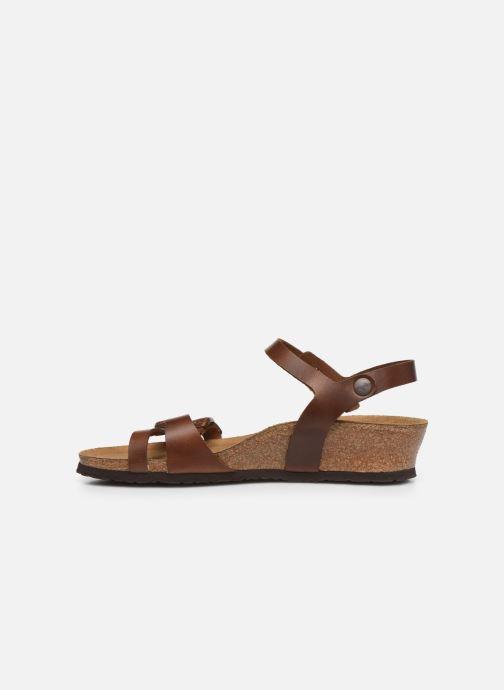 Sandales et nu-pieds Papillio Lana CuirNaturel Marron vue face
