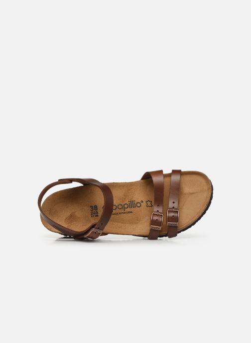 Sandales et nu-pieds Papillio Lana CuirNaturel Marron vue gauche
