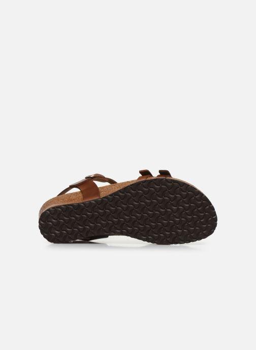 Sandales et nu-pieds Papillio Lana CuirNaturel Marron vue haut