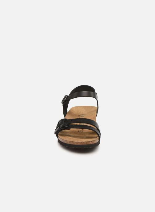 Sandales et nu-pieds Papillio Lana CuirNaturel Noir vue portées chaussures