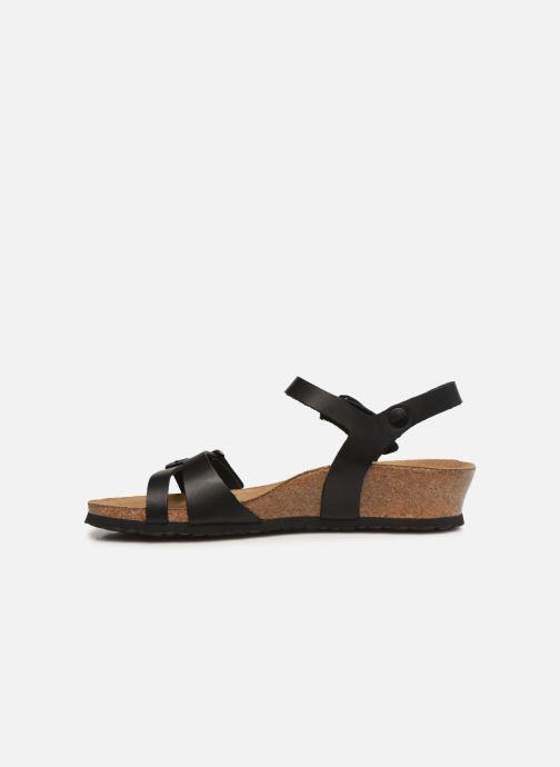 Sandales et nu-pieds Papillio Lana CuirNaturel Noir vue face