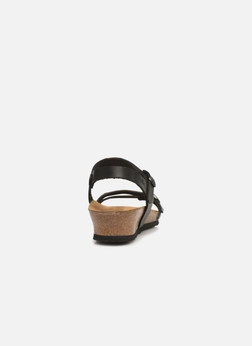 Sandals Papillio Lana CuirNaturel Black view from the right