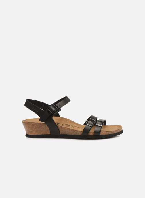 Sandales et nu-pieds Papillio Lana CuirNaturel Noir vue derrière