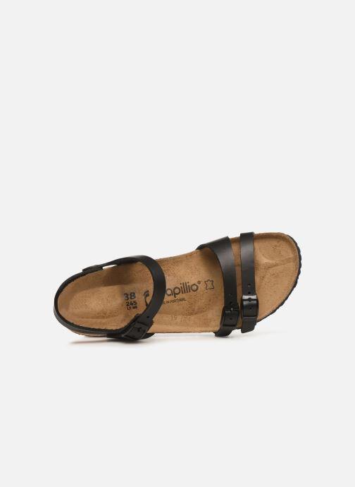 Sandales et nu-pieds Papillio Lana CuirNaturel Noir vue gauche