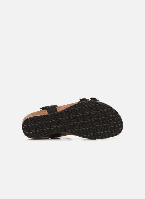 Sandales et nu-pieds Papillio Lana CuirNaturel Noir vue haut