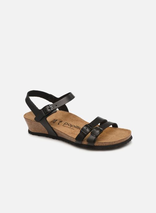 Sandals Papillio Lana CuirNaturel Black detailed view/ Pair view